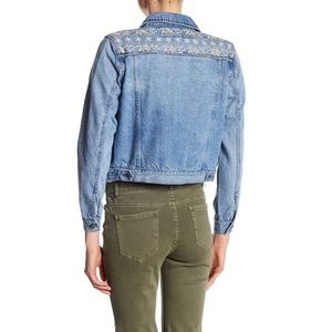 Rebecca Minkoff Jackets & Coats - Rebecca Minkoff Embroidered Yoke Denim Jacket